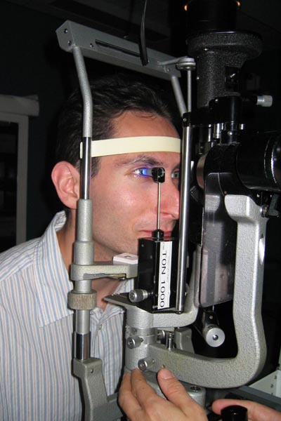 Examination of visual field - Eye Clinic - Dr Jean-Marc SCHEPEN